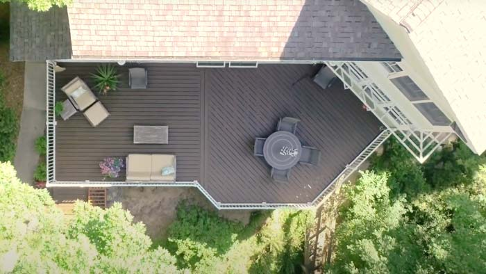 Lake Michigan Beach House Decking Remodel